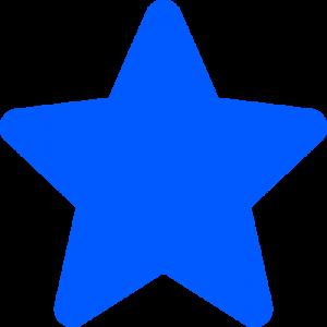 blå stjärna